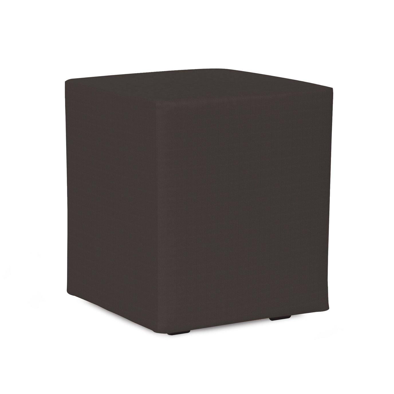 Howard Elliott Universal Cube Outdoor Sunbrella Seascape Charcoal Complete Ottoman