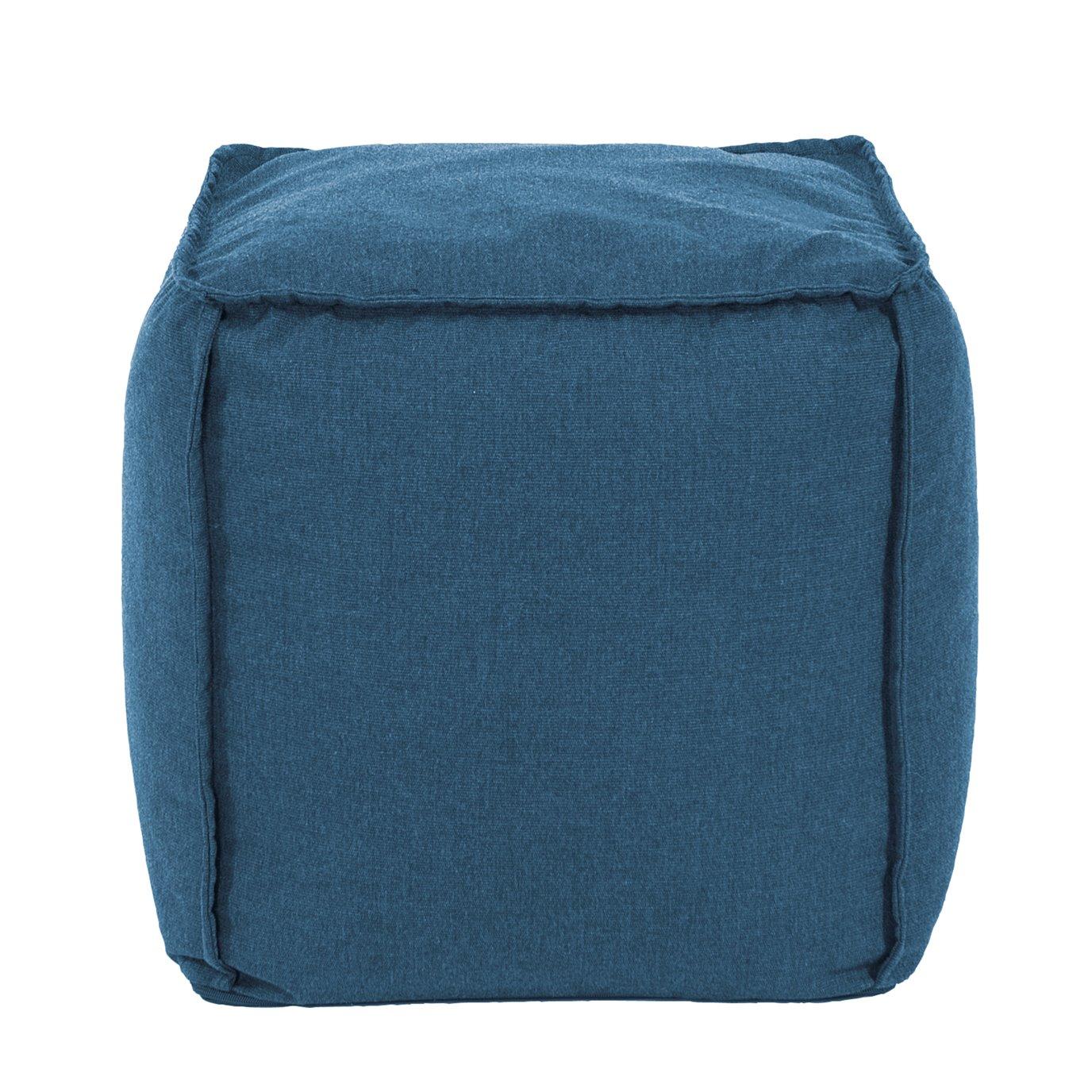 Howard Elliott Square Pouf Seascape Turquoise