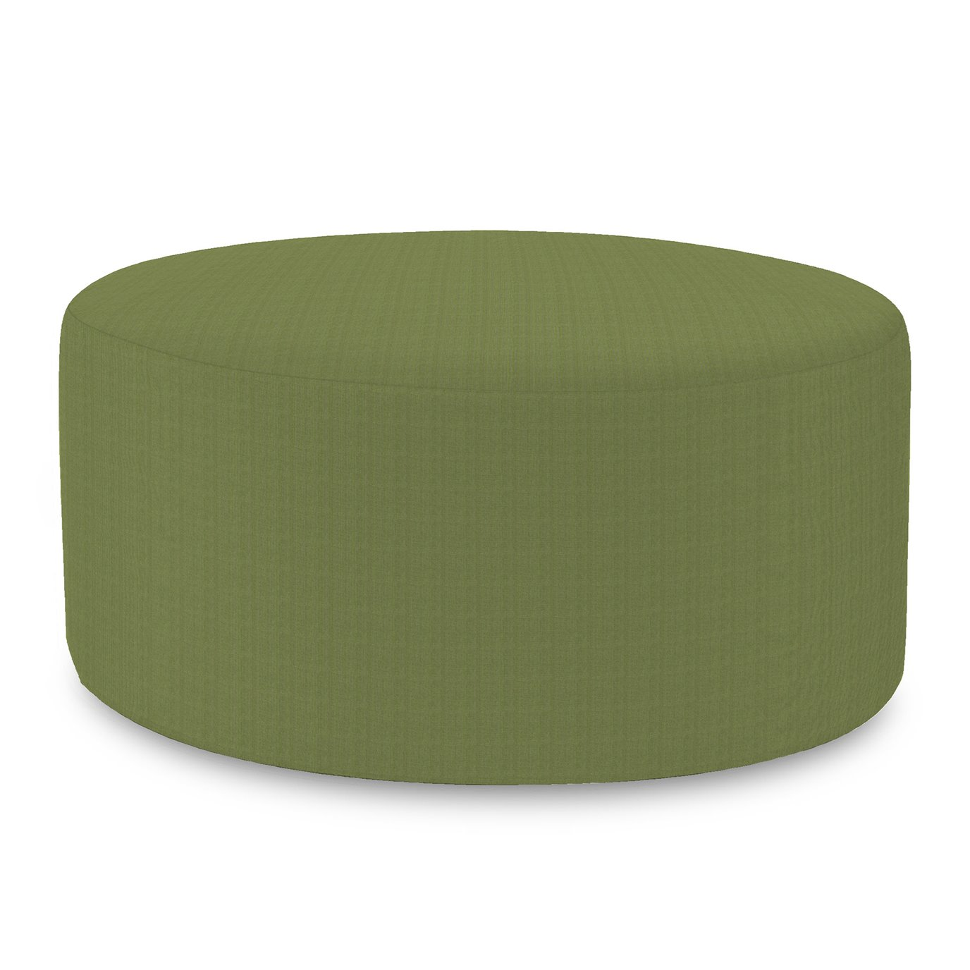 Howard Elliott Universal Round Ottoman Cover Sunbrella Outdoor Seascape Moss - Cover Only, Base Not Included