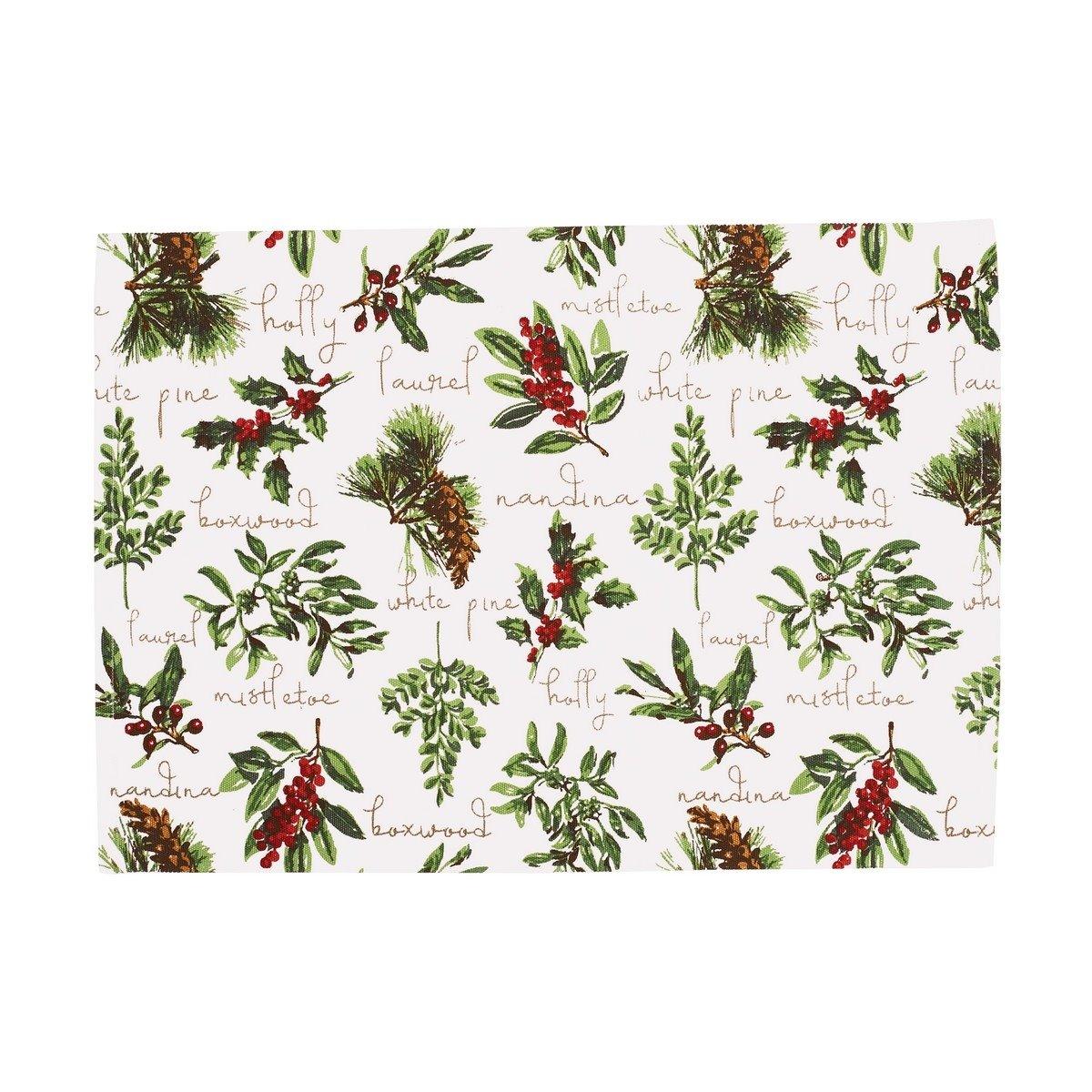 Winter Botanical Rectangular Woven Placemat