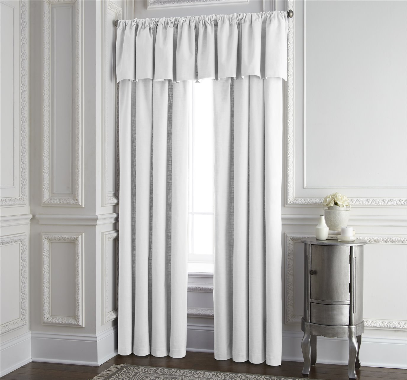 """Cambric White Lined Drapery Panel 52""""x120"""" - Each"""