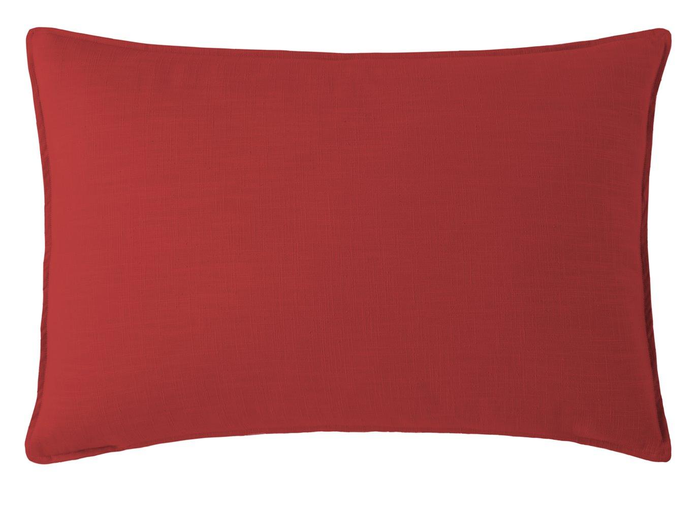 Cambric Red Pillow Sham Standard/Queen