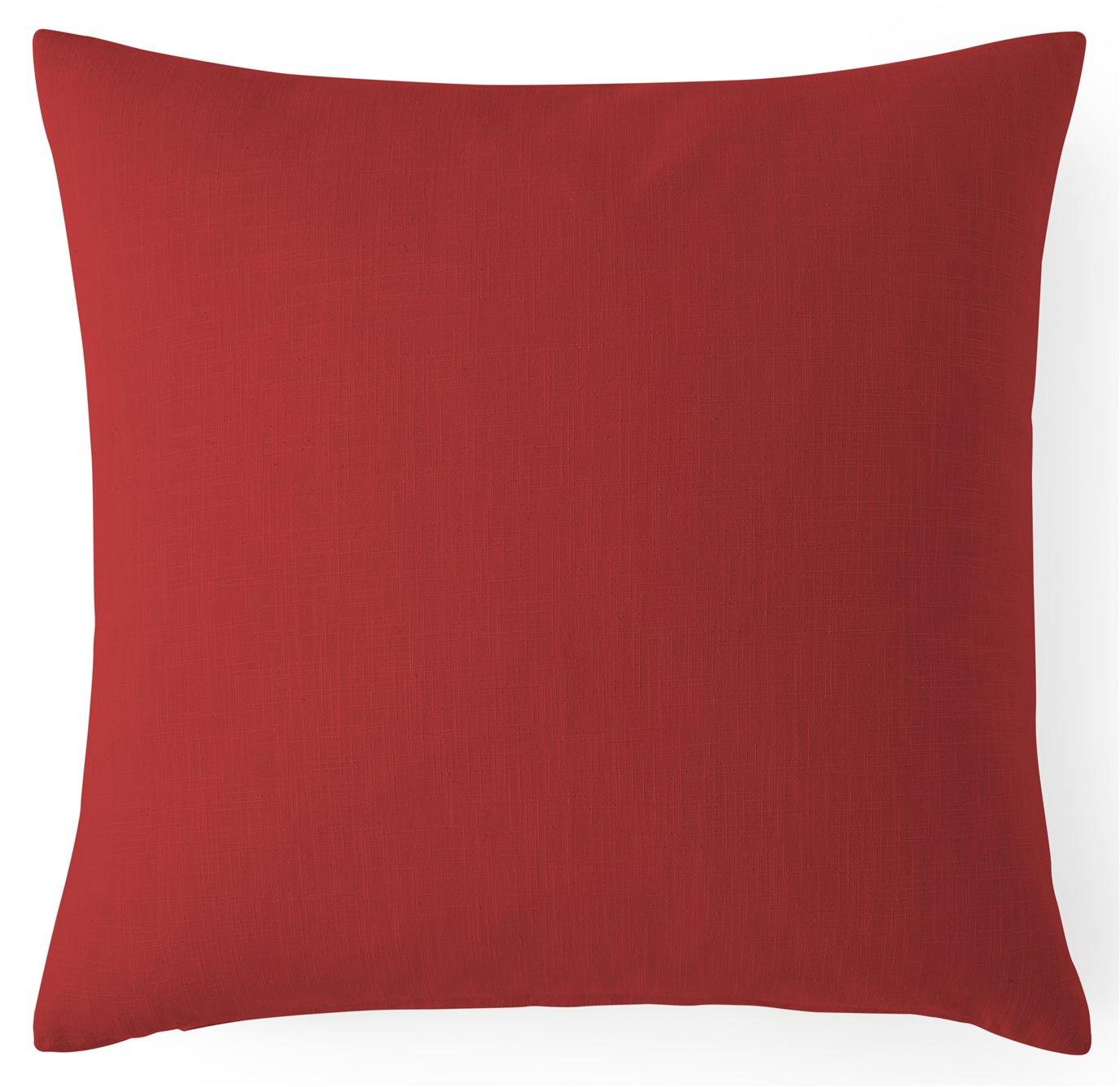 Cambric Red Euro Sham