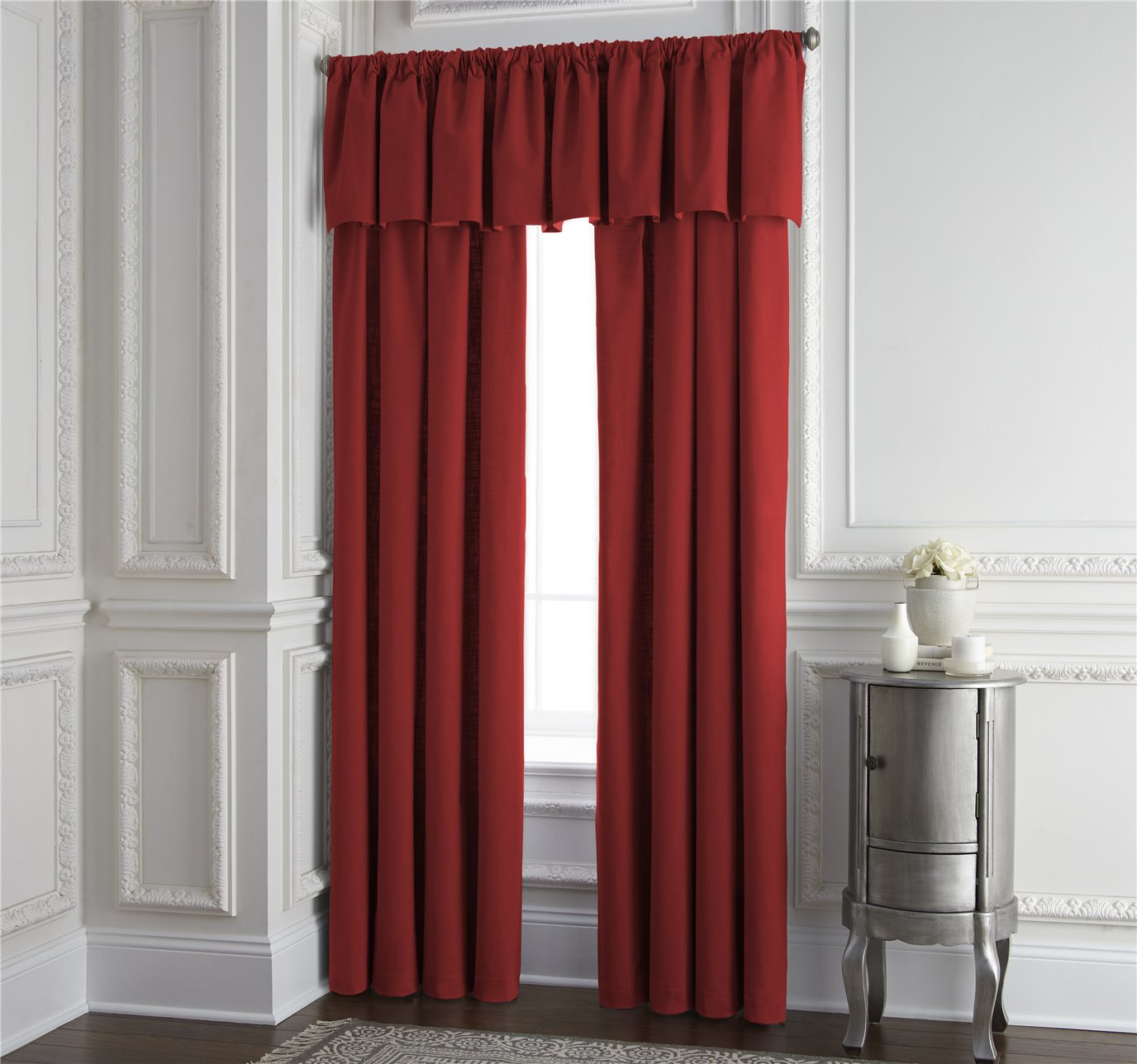 """Cambric Red Lined Drapery Panel 52""""x120"""" - Each"""