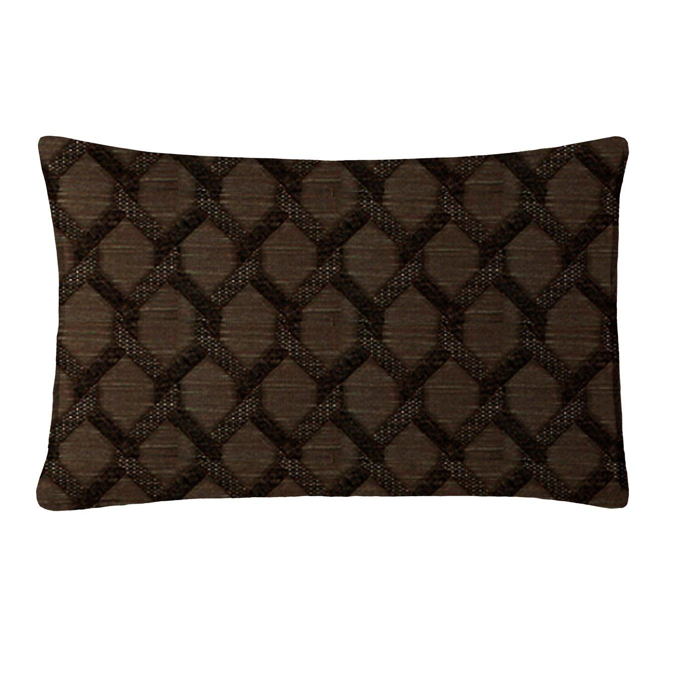 "Malden Chocolate Rectangle Pillow 14""x42"""