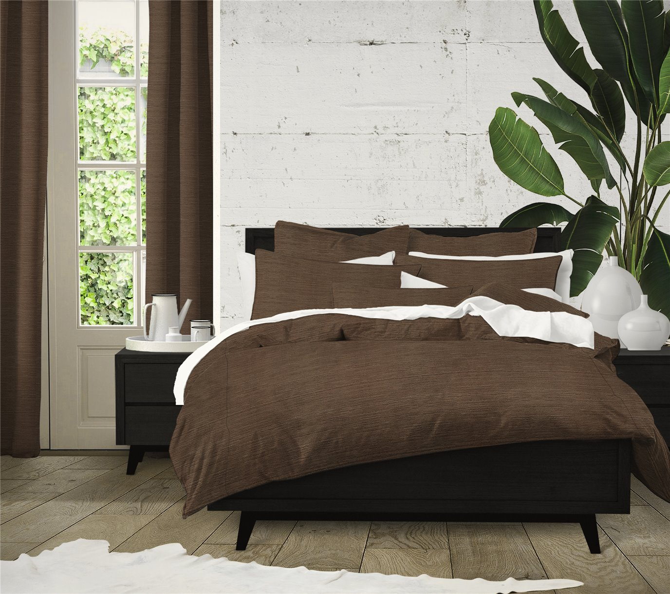 McGregor Chocolate Comforter Set - Super King