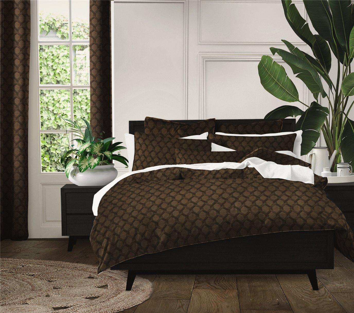 Malden Chocolate Comforter Set - Queen