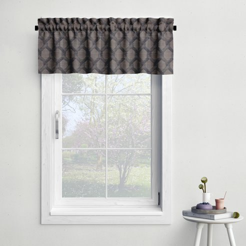 Malden Charcoal Tailored Valance
