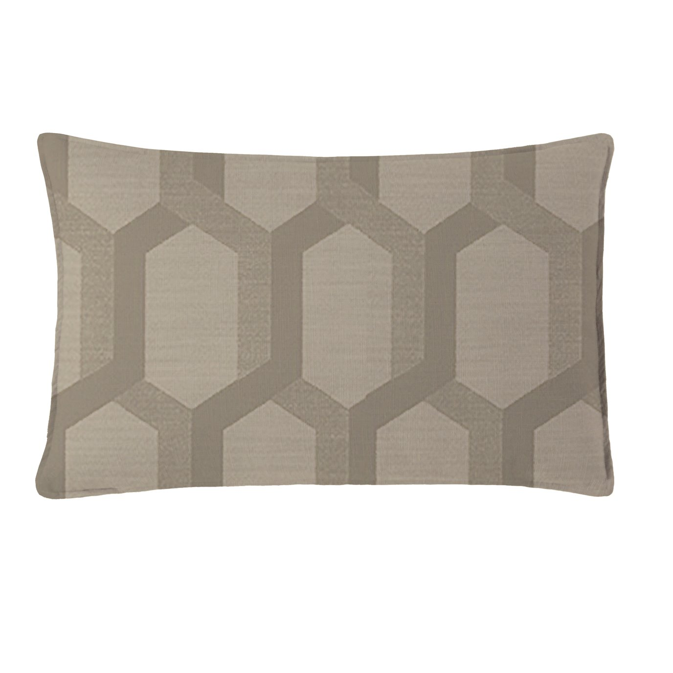 """Maidstone Taupe Rectangle Pillow 14""""x22"""""""