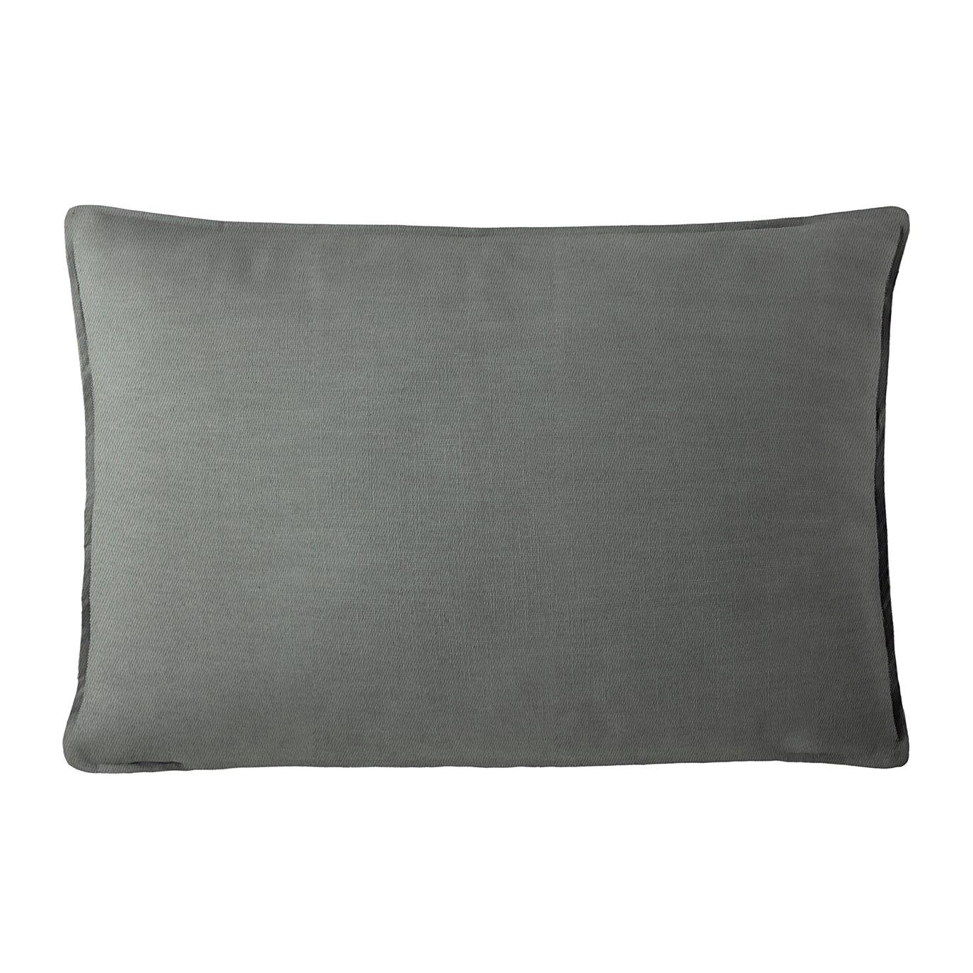 "Harrow Charcoal Rectangle Pillow 14""x42"""