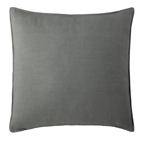 "Harrow Charcoal Square Pillow 18""x18"""