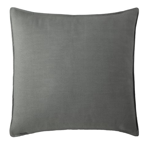 "Harrow Charcoal Square Pillow 24""x24"""