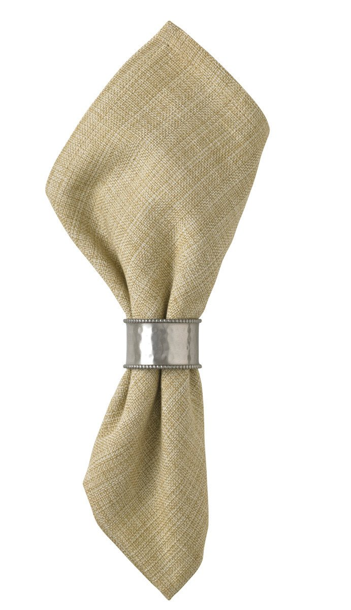 Hammered Cuff Napkin Ring in Pewter Finish