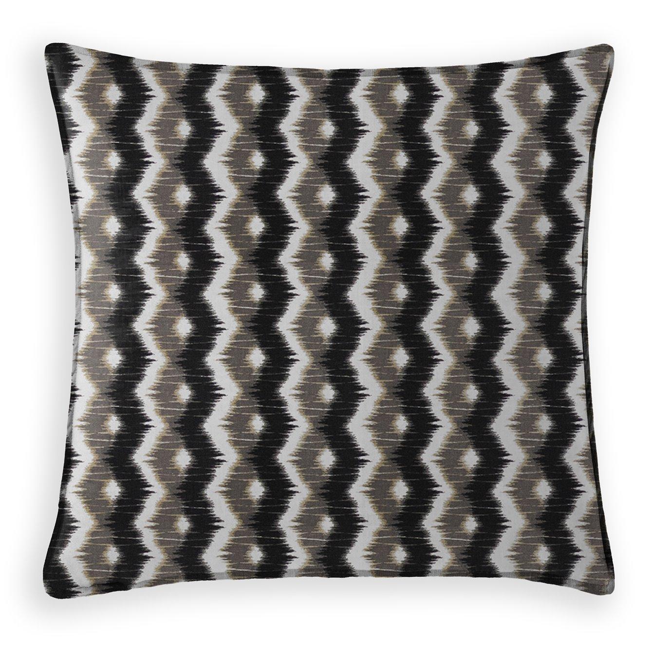 Nelson Decorative Cushion - 20 Inch Square - Coordinating Velvet