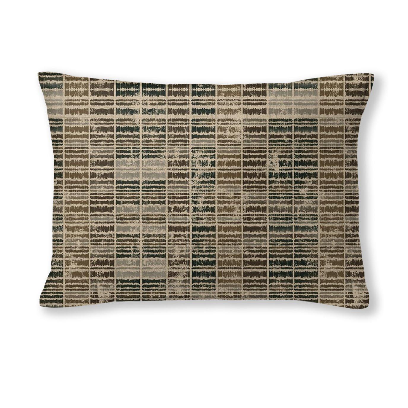"""Eaton Cocoa Rectangle Pillow 14""""x20"""""""