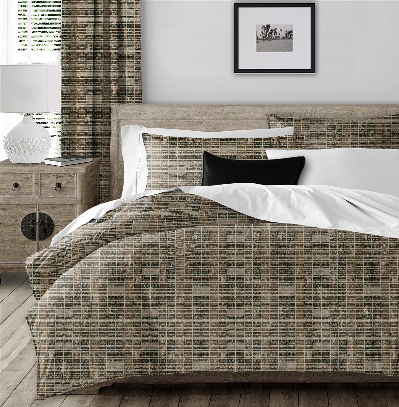 Eaton Cocoa Comforter Set - Queen