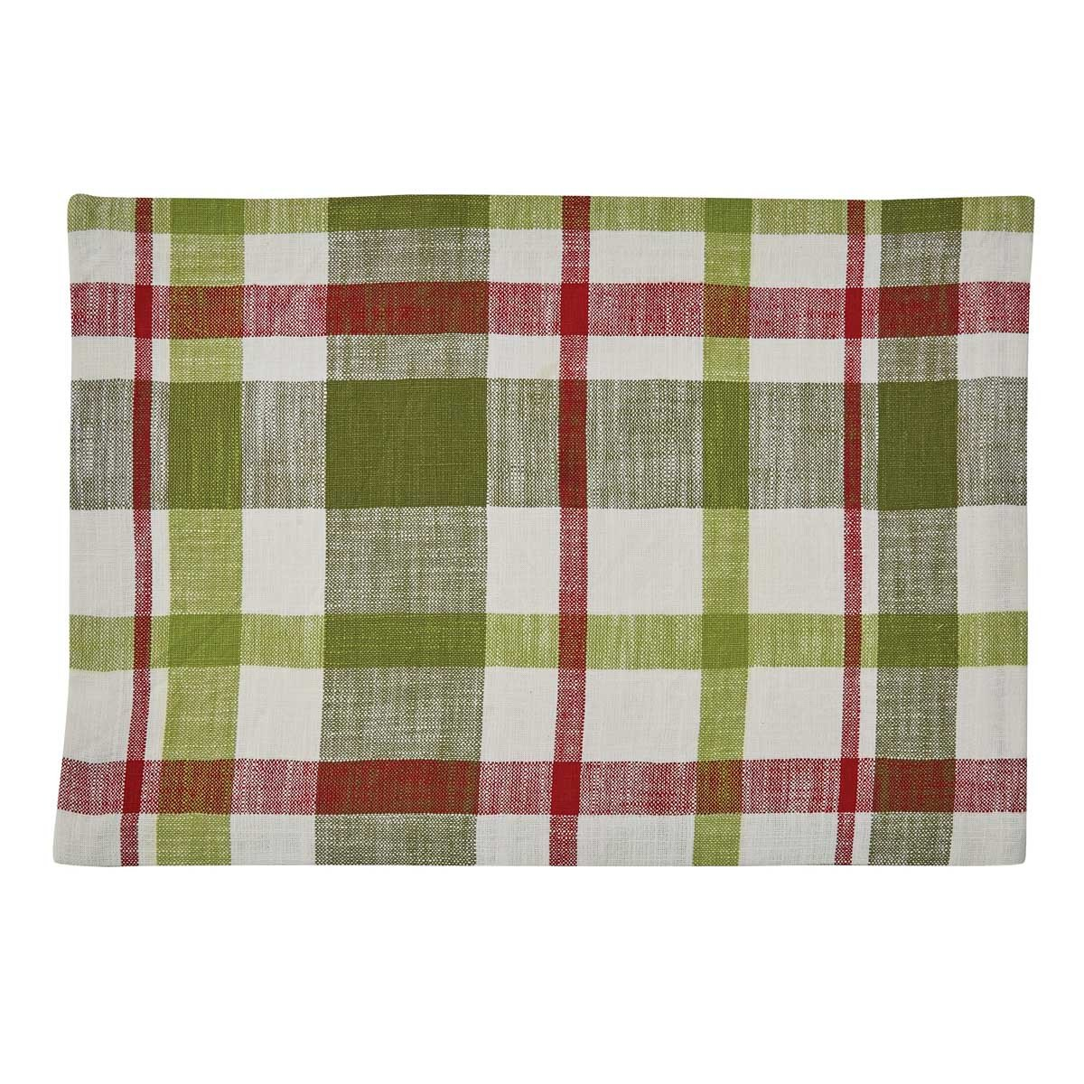 Winter Bliss Plaid Woven Placemat