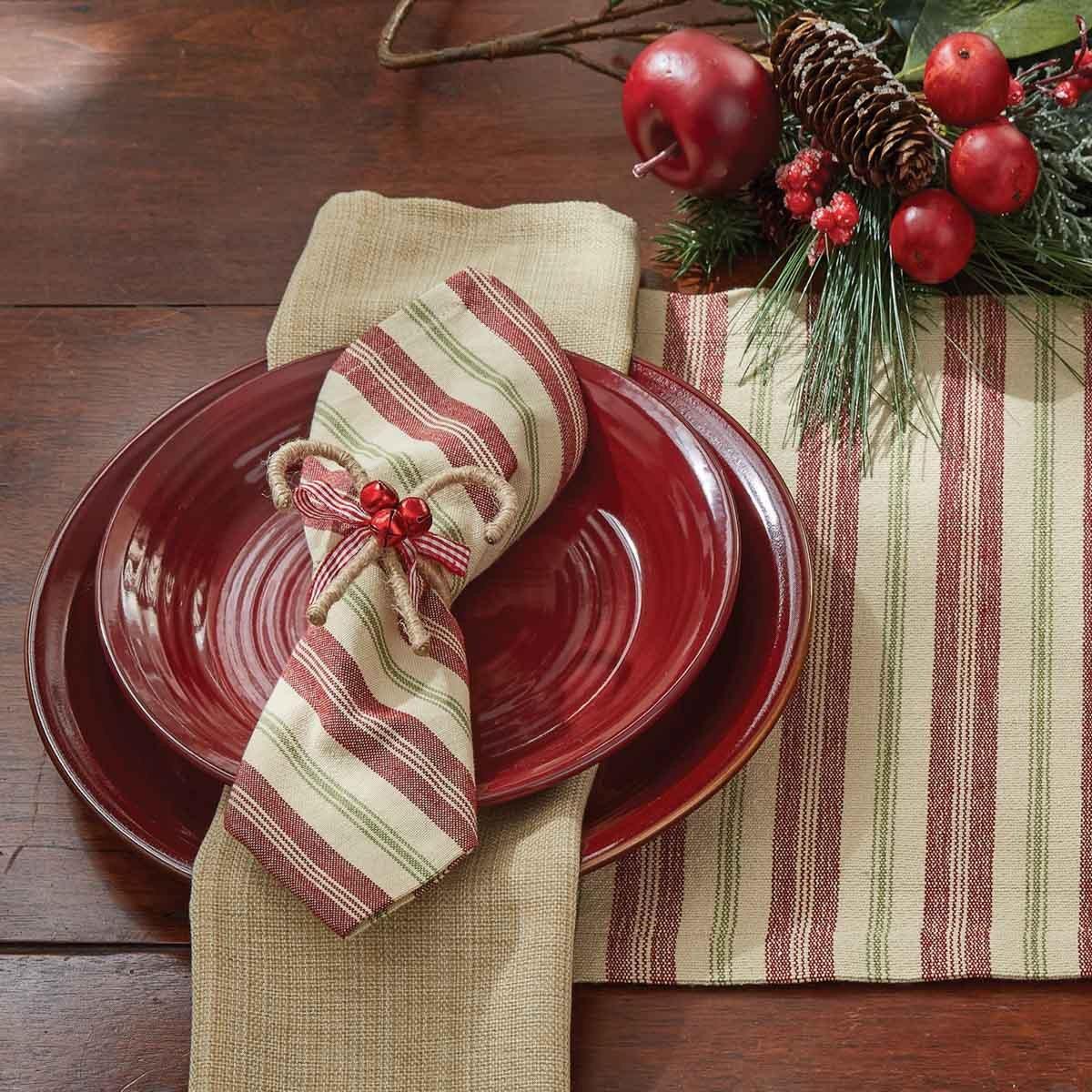 Merry Woven Striped Napkin