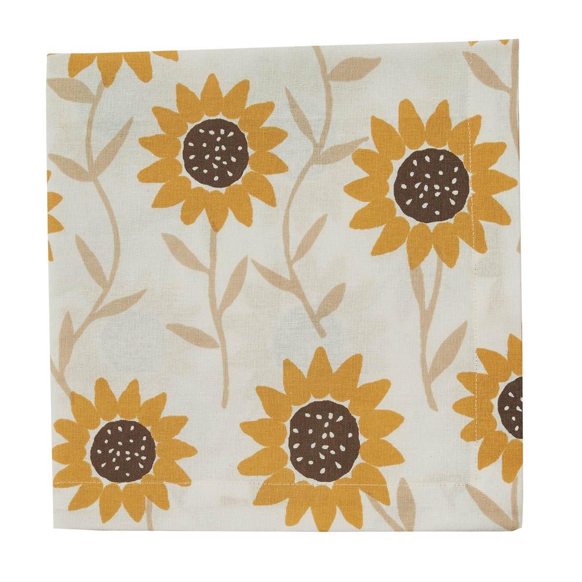Sunflower Print Napkin