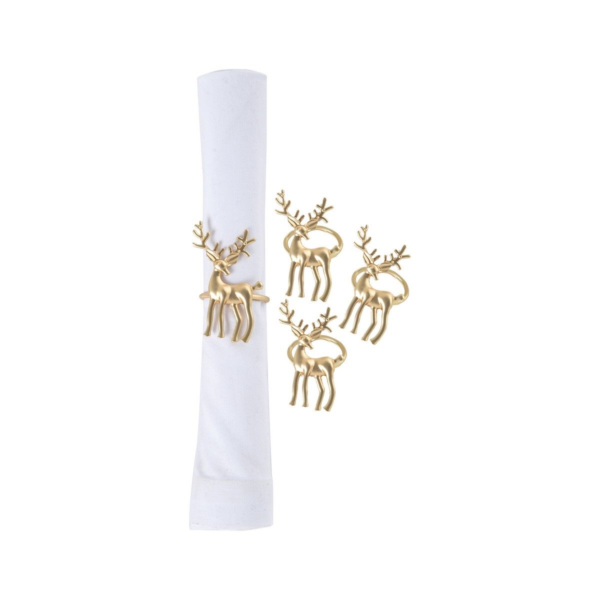 Gold Deer Napkin Ring- Set of 4