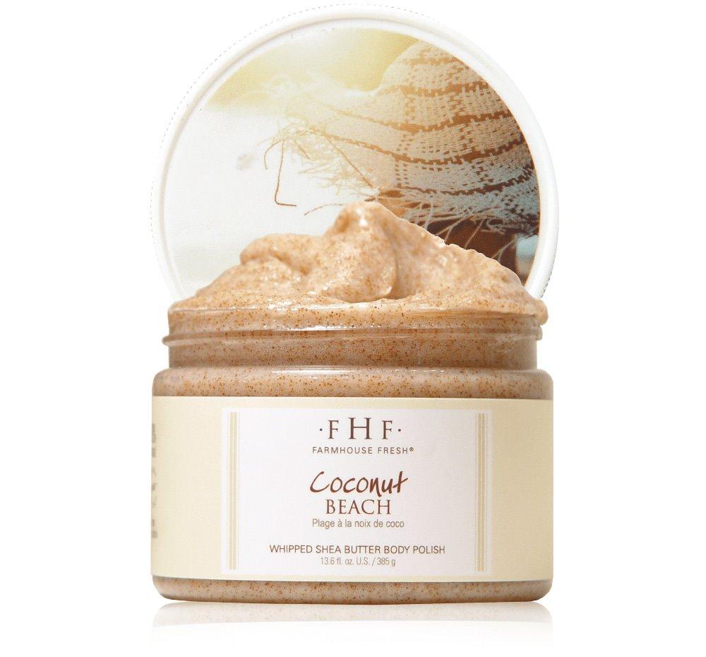 Farmhouse Fresh Coconut Beach Whipped Shea Butter Body Polish (12 oz)