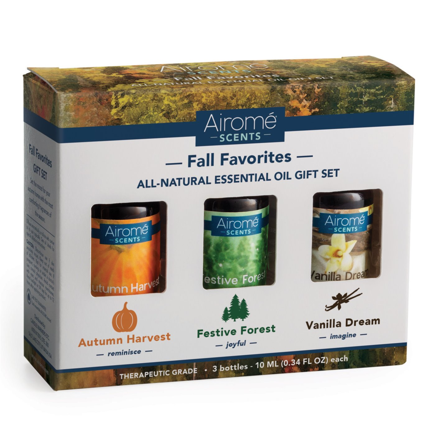Airomé Fall Favorites Essential Oil Set (3 X 10ml) 100% Pure