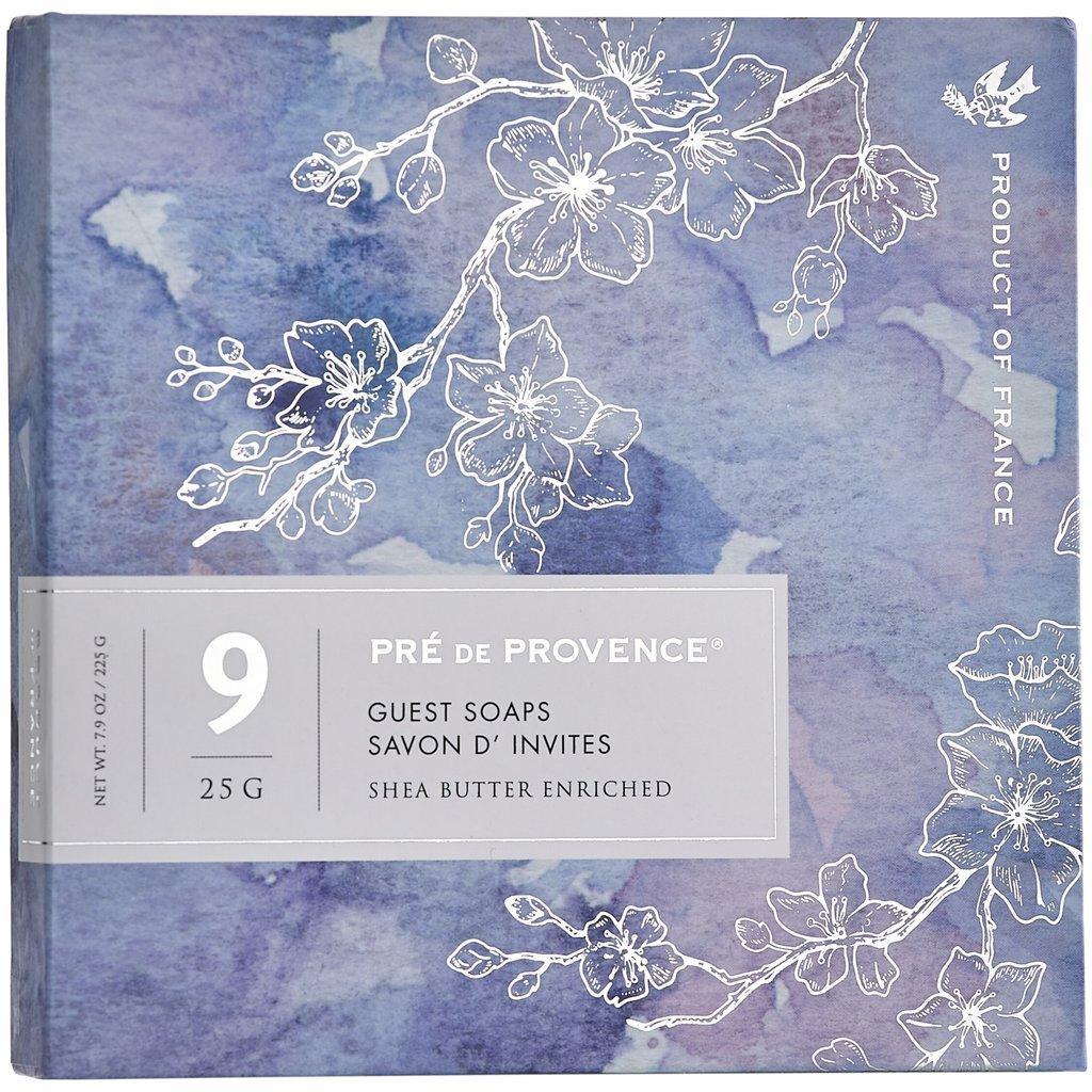 Pre de Provence Guest Soaps Set of 9 (Classic scents, blue box)