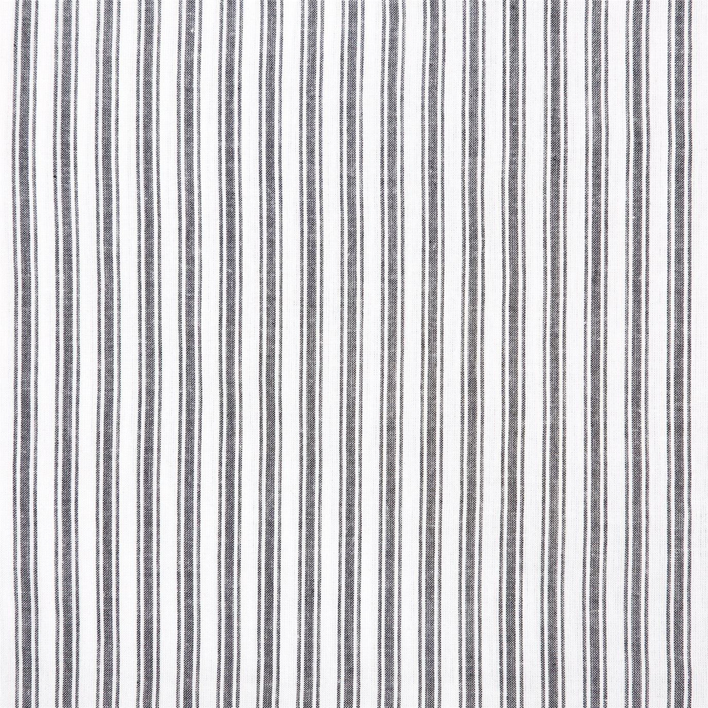 Sawyer Mill Black Ruffled Ticking Stripe King Pillow Case Set of 2 21x36+4