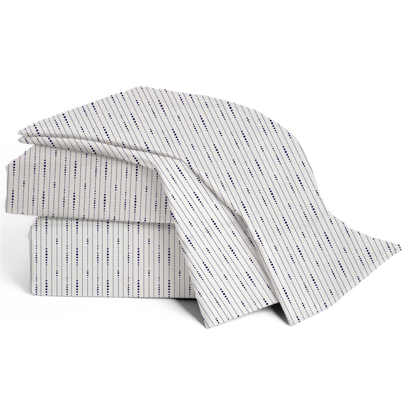 Modern Living 300 Thread Count Organic Cotton Queen Dotted Line Sheet Set