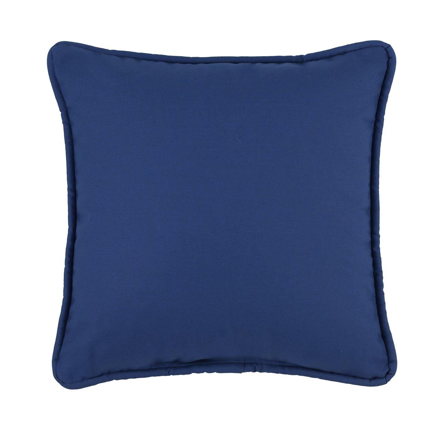 Tropical Paradise Blue Square Pillow - Navy