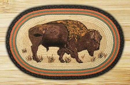 "Buffalo Braided and Printed Oval Rug 20""x30"""