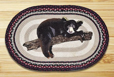 "Baby Bear Braided and Printed Oval Rug 20""x30"""