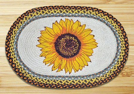 "Sunflower Braided and Printed Oval Rug 20""x30"""
