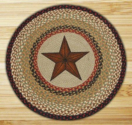 """Barn Star Round Braided Rug 27""""x27"""""""