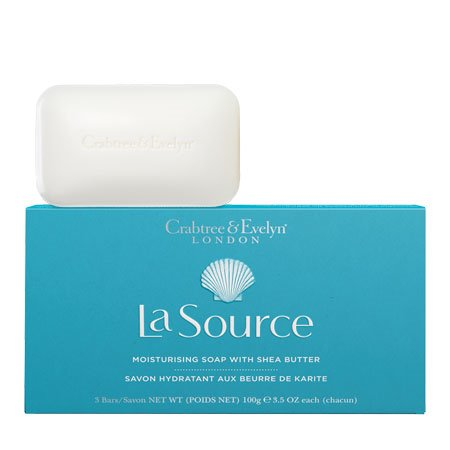 Crabtree & Evelyn La Source Moisturizing Soap with Shea Butter (3 bars x 3.5 oz,100g)