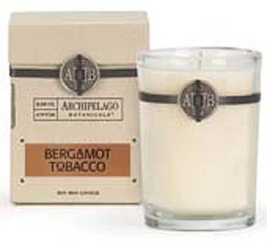Archipelago Bergamot Tobacco Soy Boxed Candle