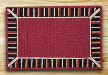 "Burgundy Soft Patch In The City In The City Rug 27""x45"""