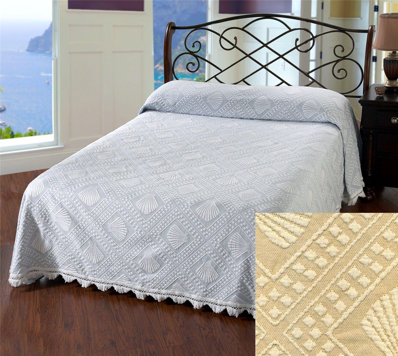 Cape Cod Queen Linen Bedspread