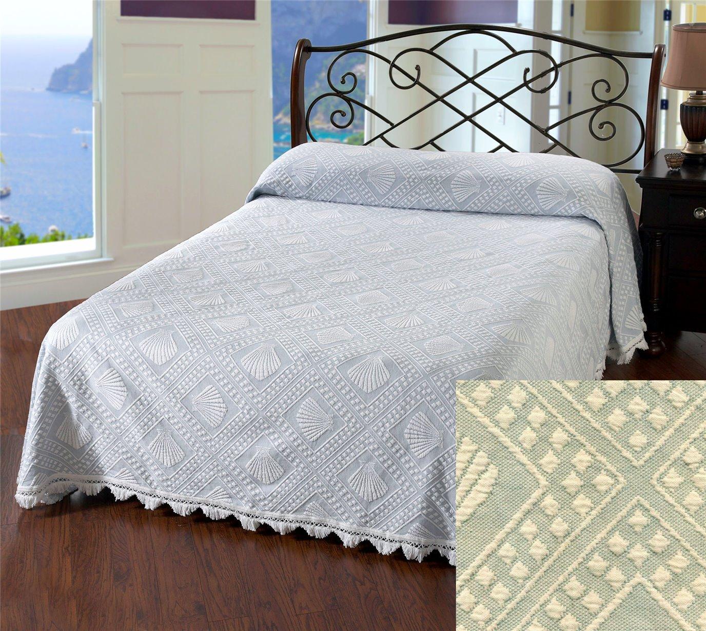 Cape Cod Queen Sage Bedspread