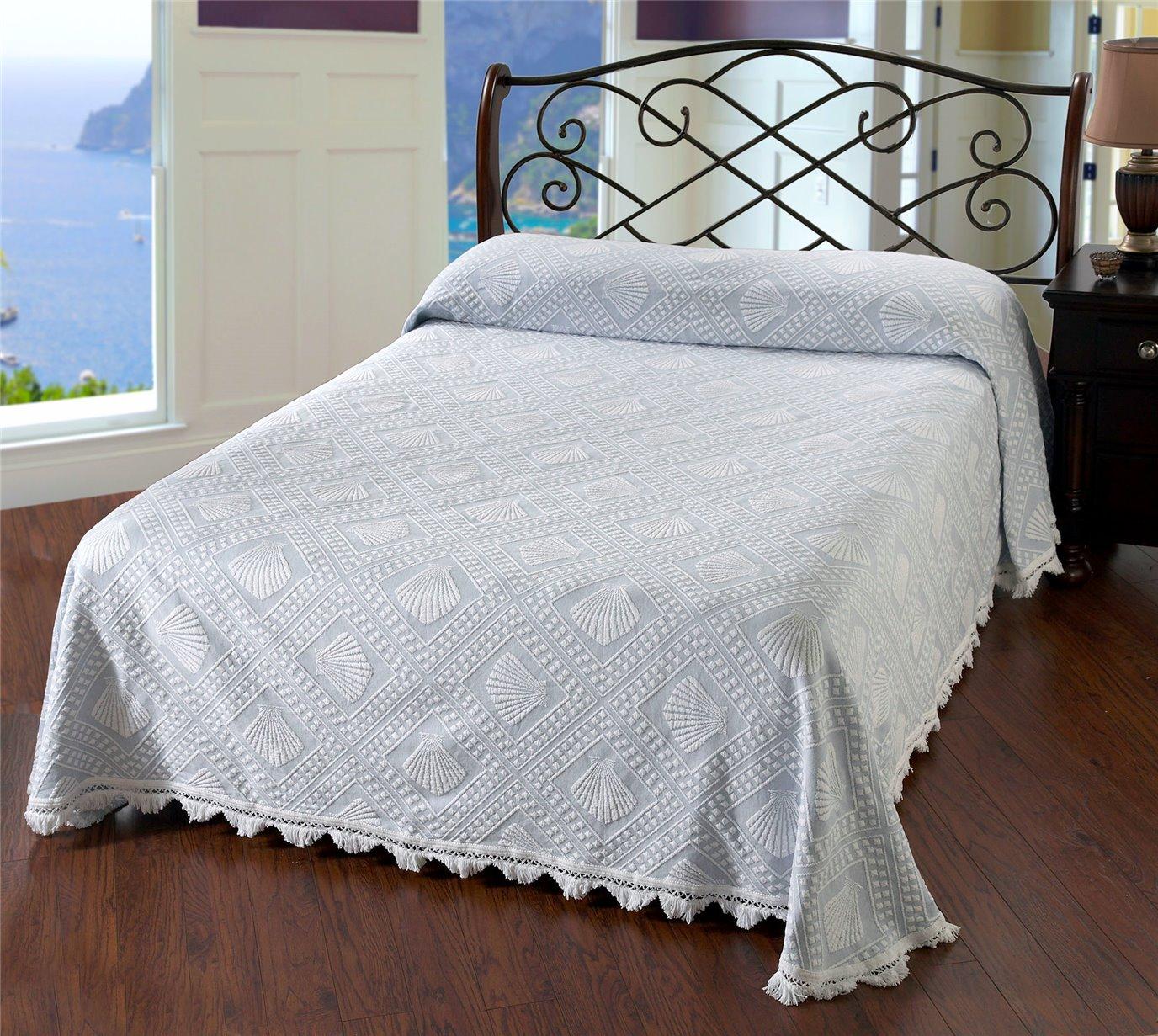 Cape Cod Queen Wedgewood Blue Bedspread