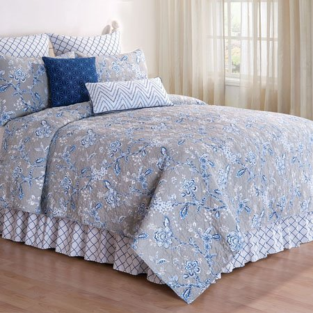 Annabelle Blue Twin Quilt