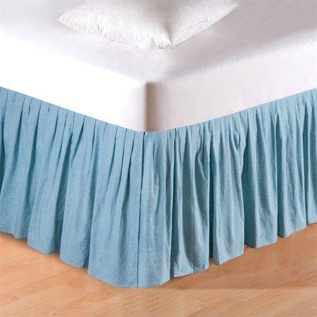 Aegean Grid Queen Bedskirt
