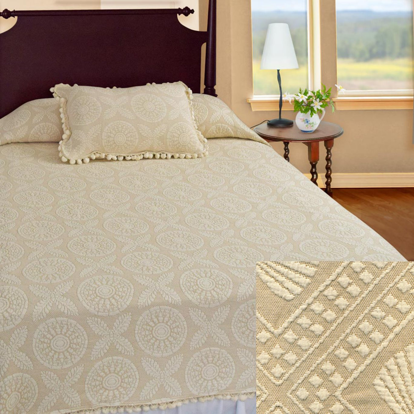 Heirloom Full Linen Coverlet