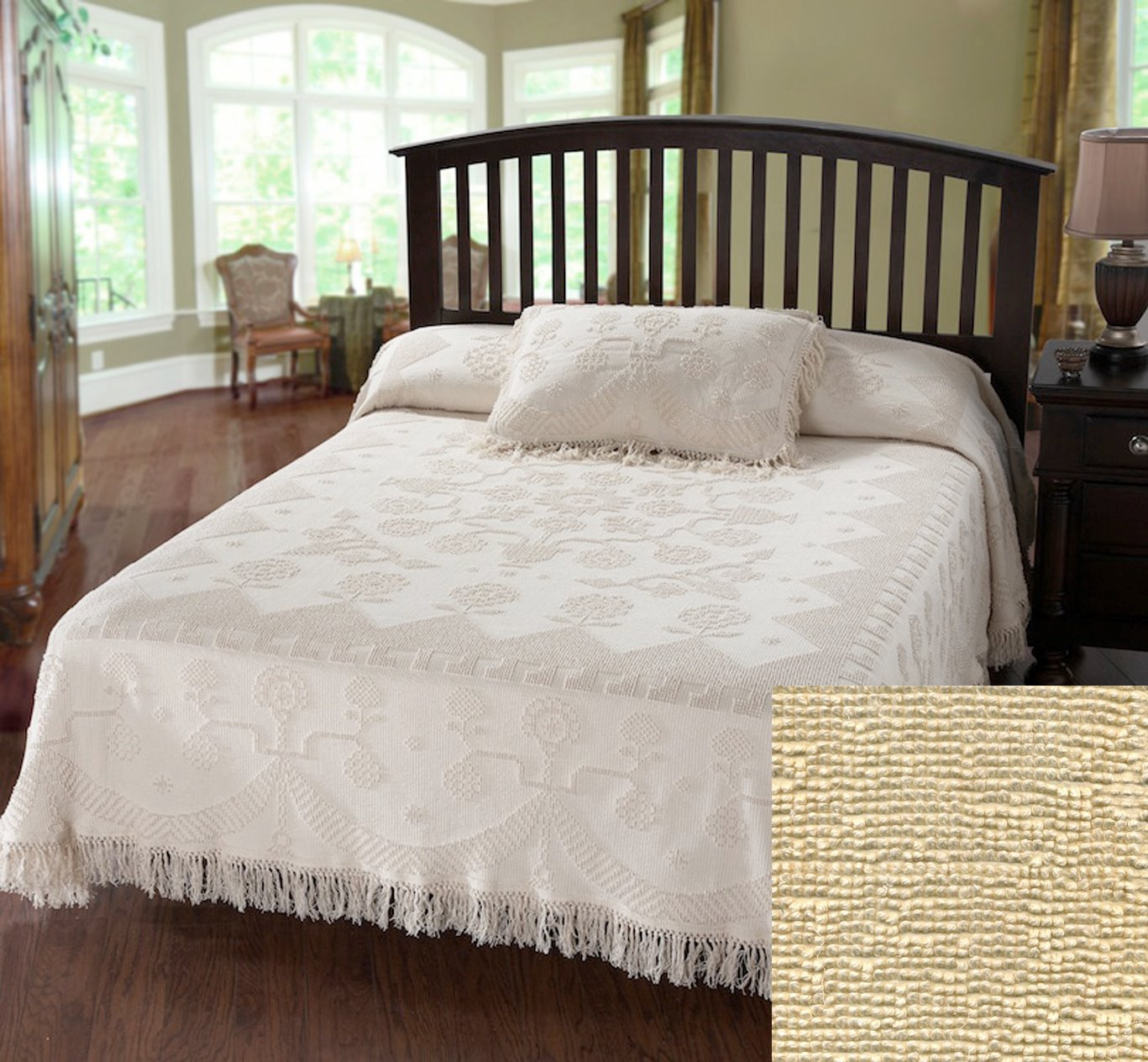 George Washington Bedspread Twin Antique