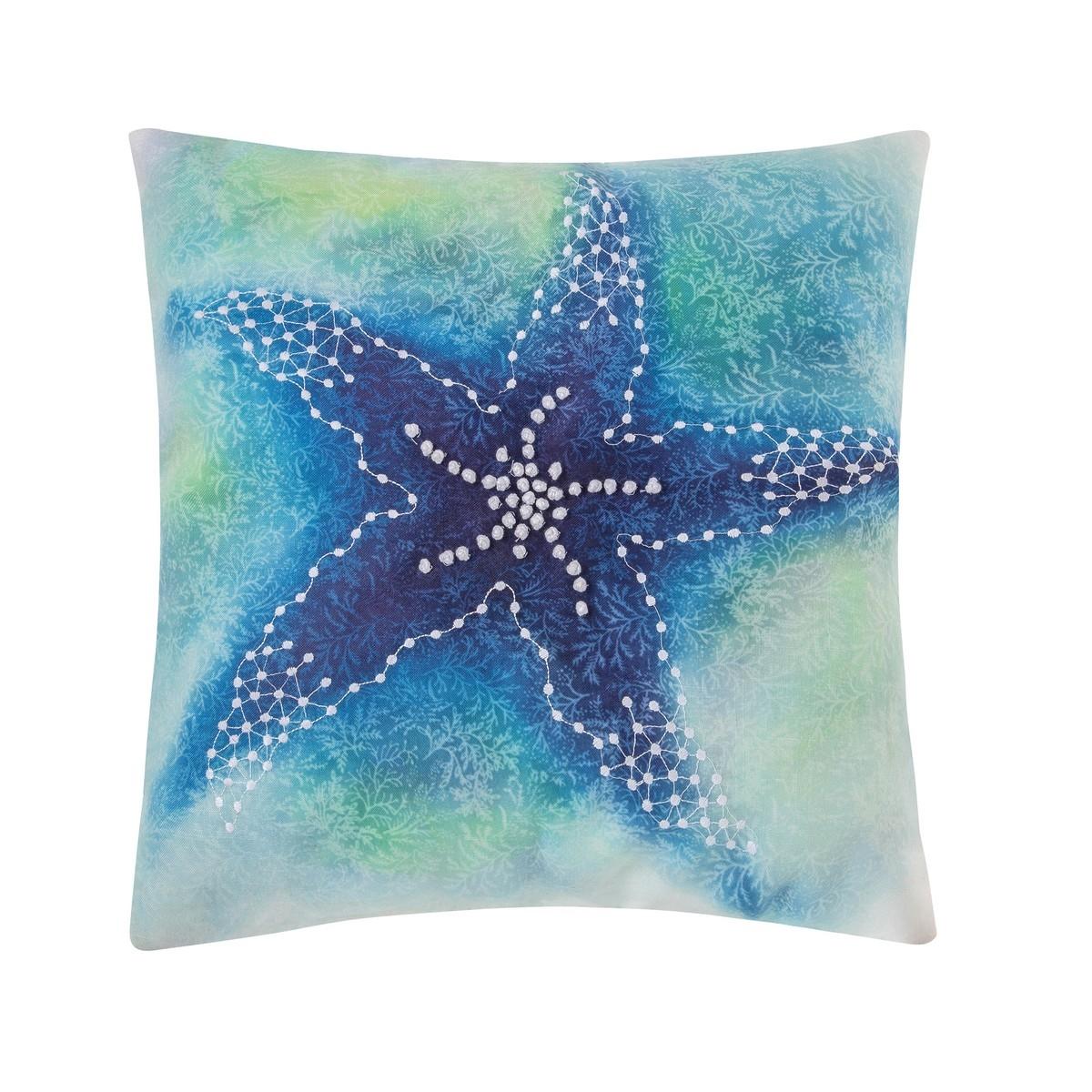 Aqua Starfish Pillow
