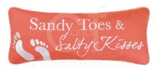 Sandy Toes Embroidered Pillow