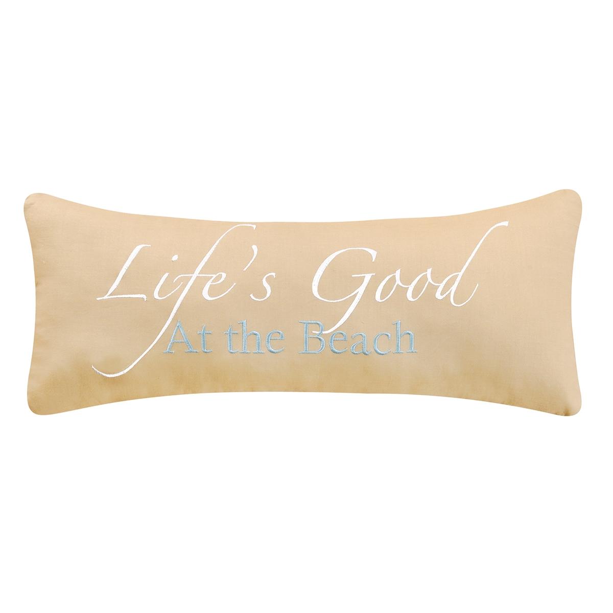 Life's Good At The Beach Pillow
