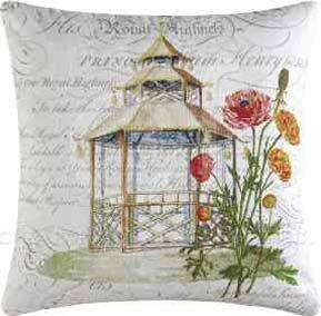 Garden Folly Gazebo Pillow