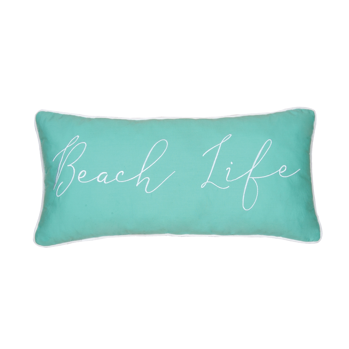 Beach Life Embroidered Pillow