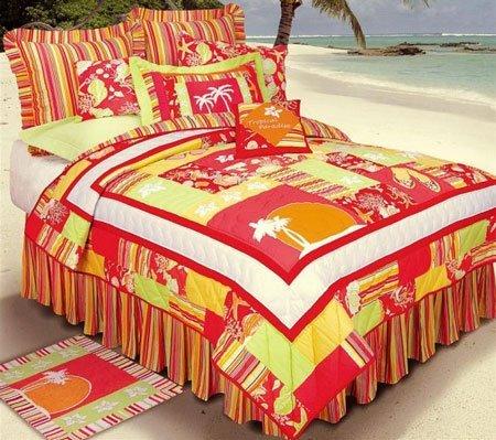 Tropical Paradise Full Queen Quilt